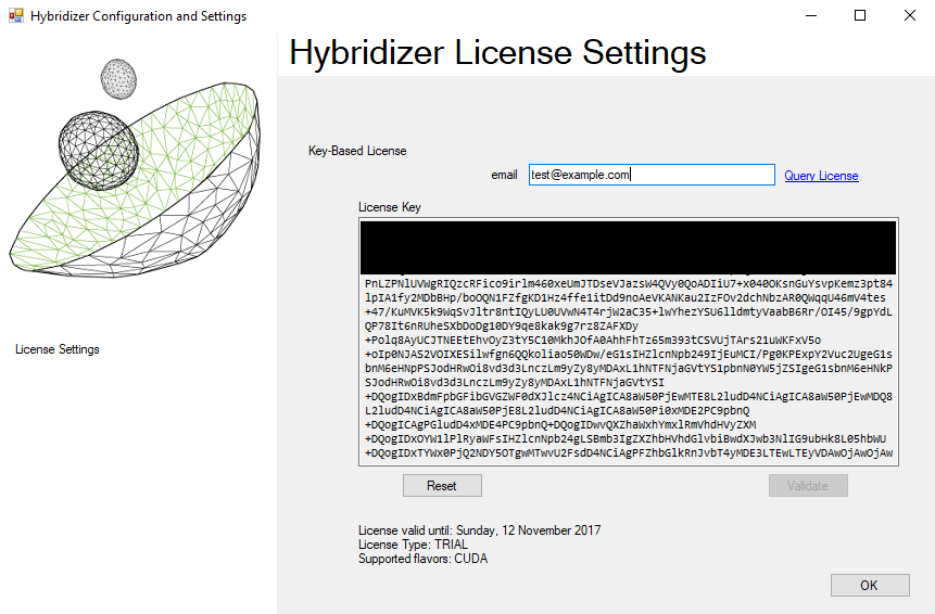 validate hybridizer essentials license